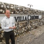 Villa Chiopris en flinke hagelbui