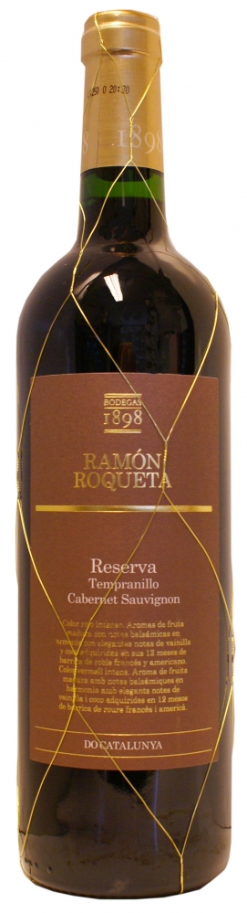 Ramon Roqueta Tempranillo Cabernet Reserva, 2011